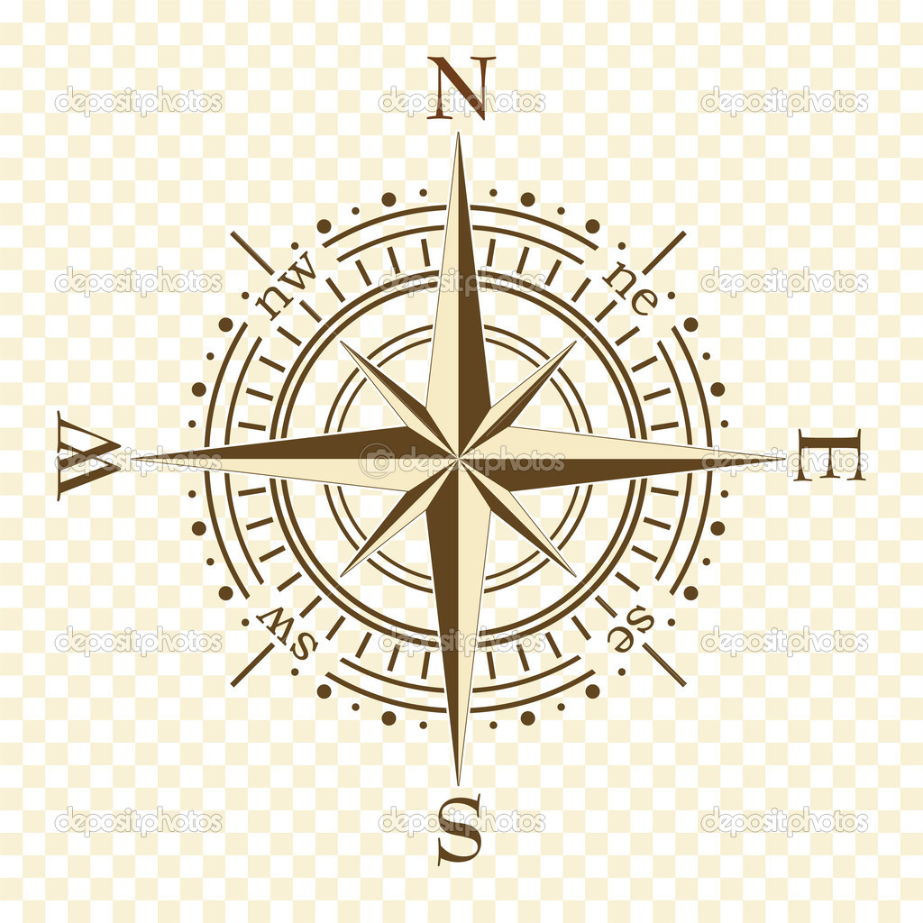 Vector vintage compass