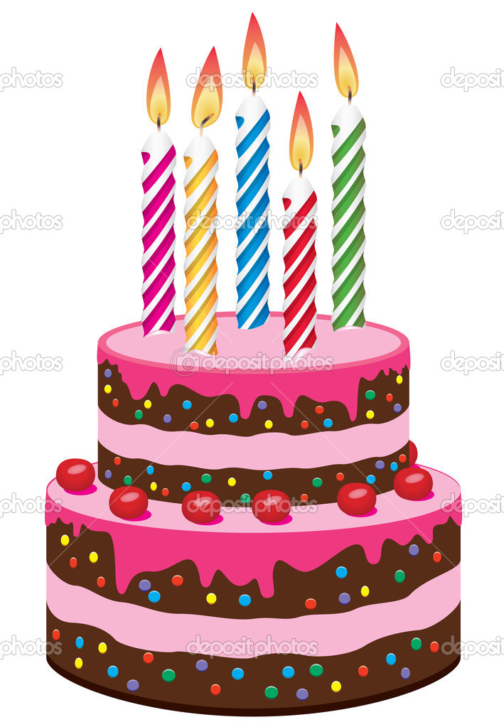 Vector birthday cake Stock Vector dmstudio 9704912