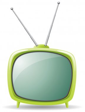 Vector green retro tv set stock vector
