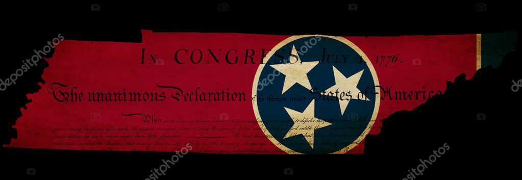Usa American Tennessee State Map Outline With Grunge Effect Flag Stock Po 10324494