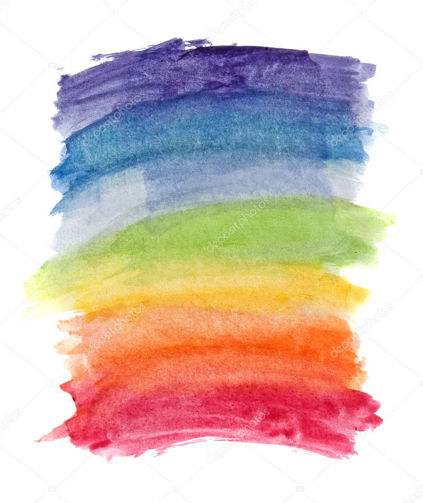 Abstract watercolor rainbow colors background