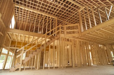 New house inside construction