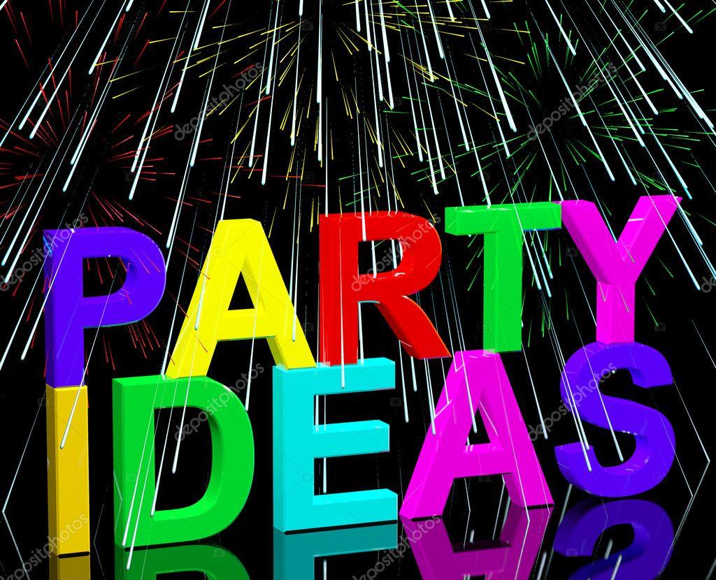 Idee Fotografiche Anniversario : Parole di idee festa mostrando su festa di compleanno o un