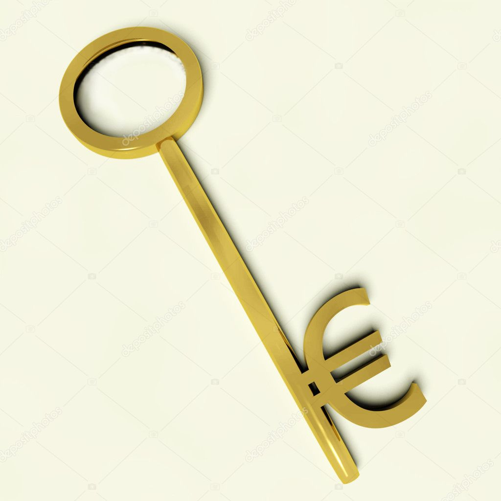 Key With Euro Sign As Symbol For Money Or Investment Stock Photo
