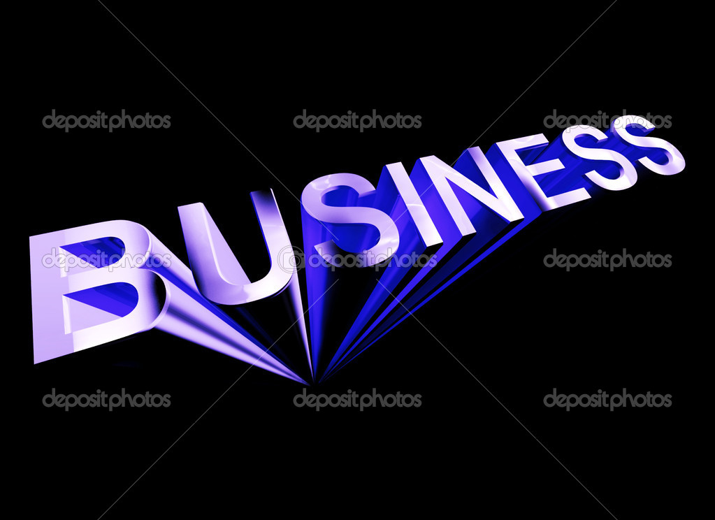 Business Text In Blue And 3d As Symbol For Trade And Commerce
