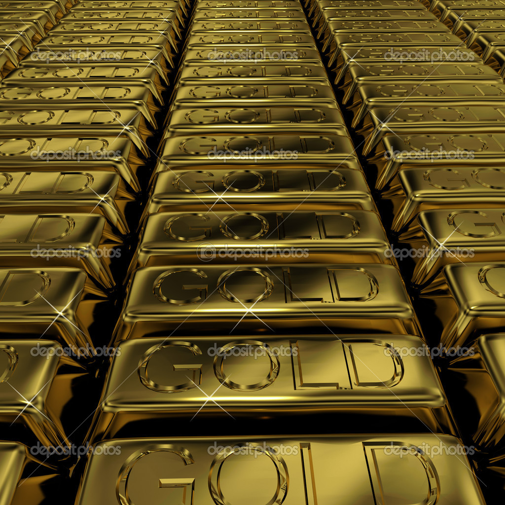 Gold Bars As Symbol For Wealth Or Investment Stock Photo