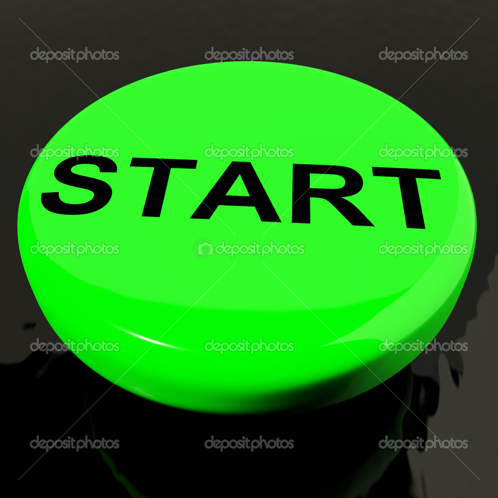 Start Button As Symbol For Control Or Activating Stock Photo