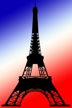 Silhouette of eiffel tower