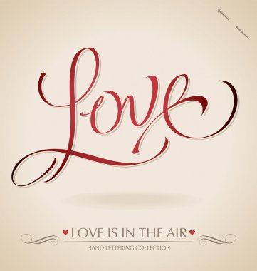 'Love' hand lettering (vector)