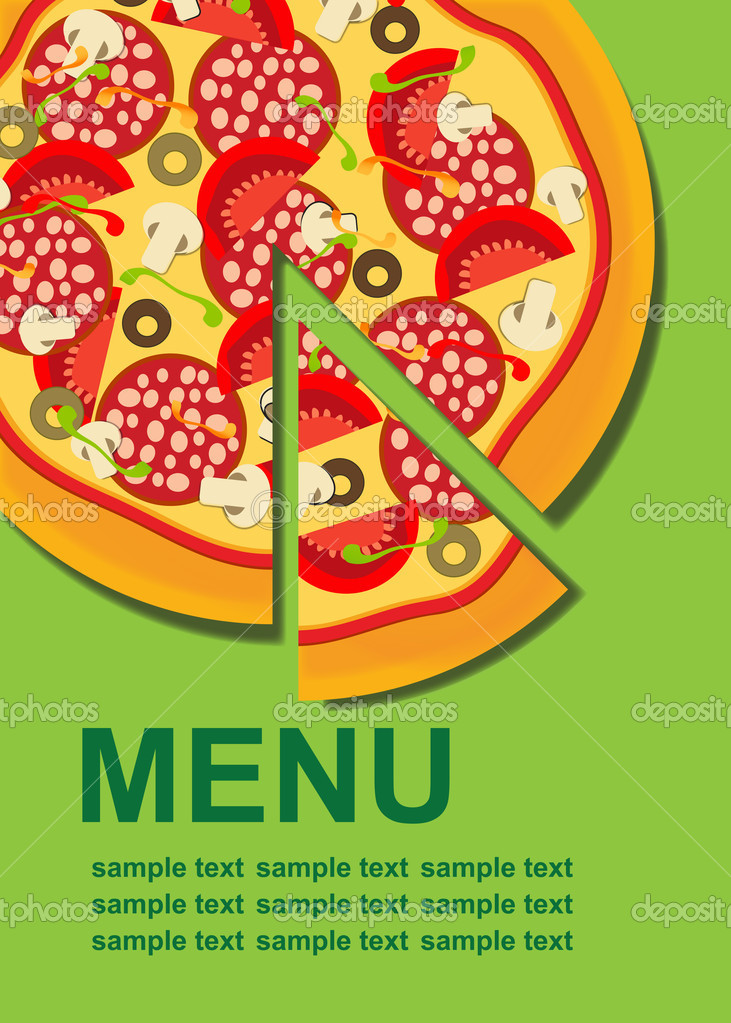 Pizza Menu Template Illustration  Stock Photo  Yganko