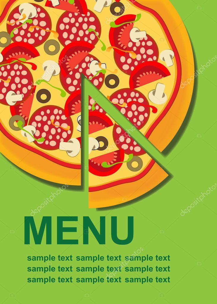 Pizza Menu Template Illustration  Stock Photo  Yganko