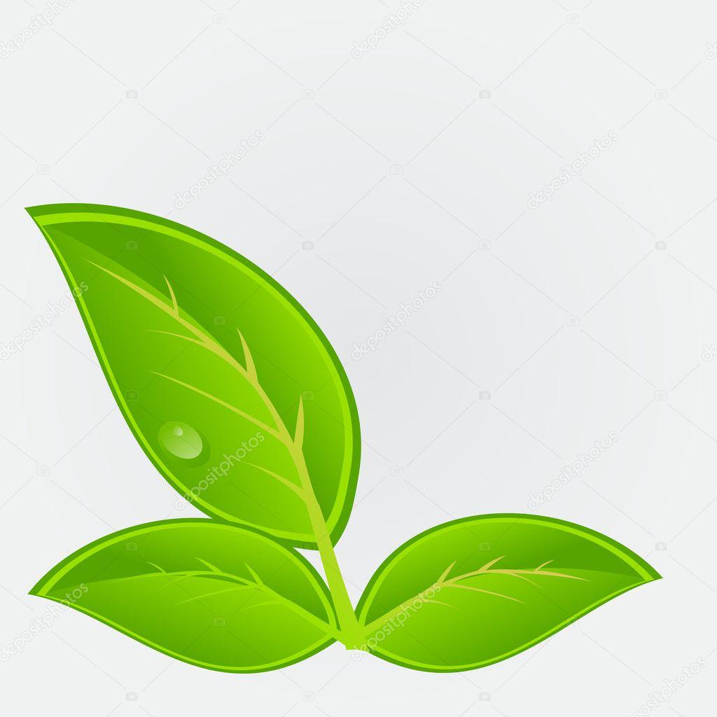 Environmental icon with plant illustration
