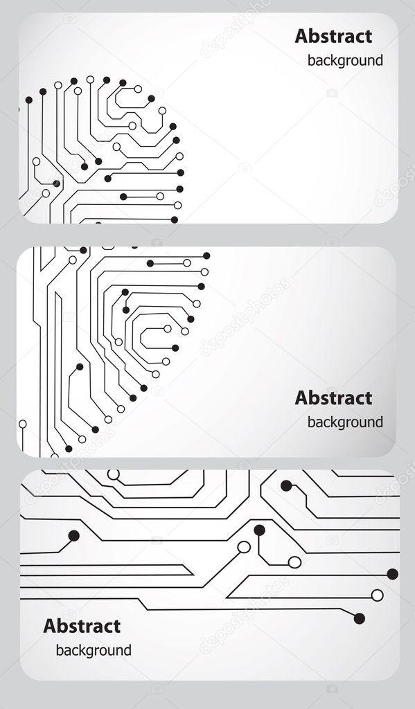 busitess tarjeta de plantillas con placa de circuito — Foto de stock ...