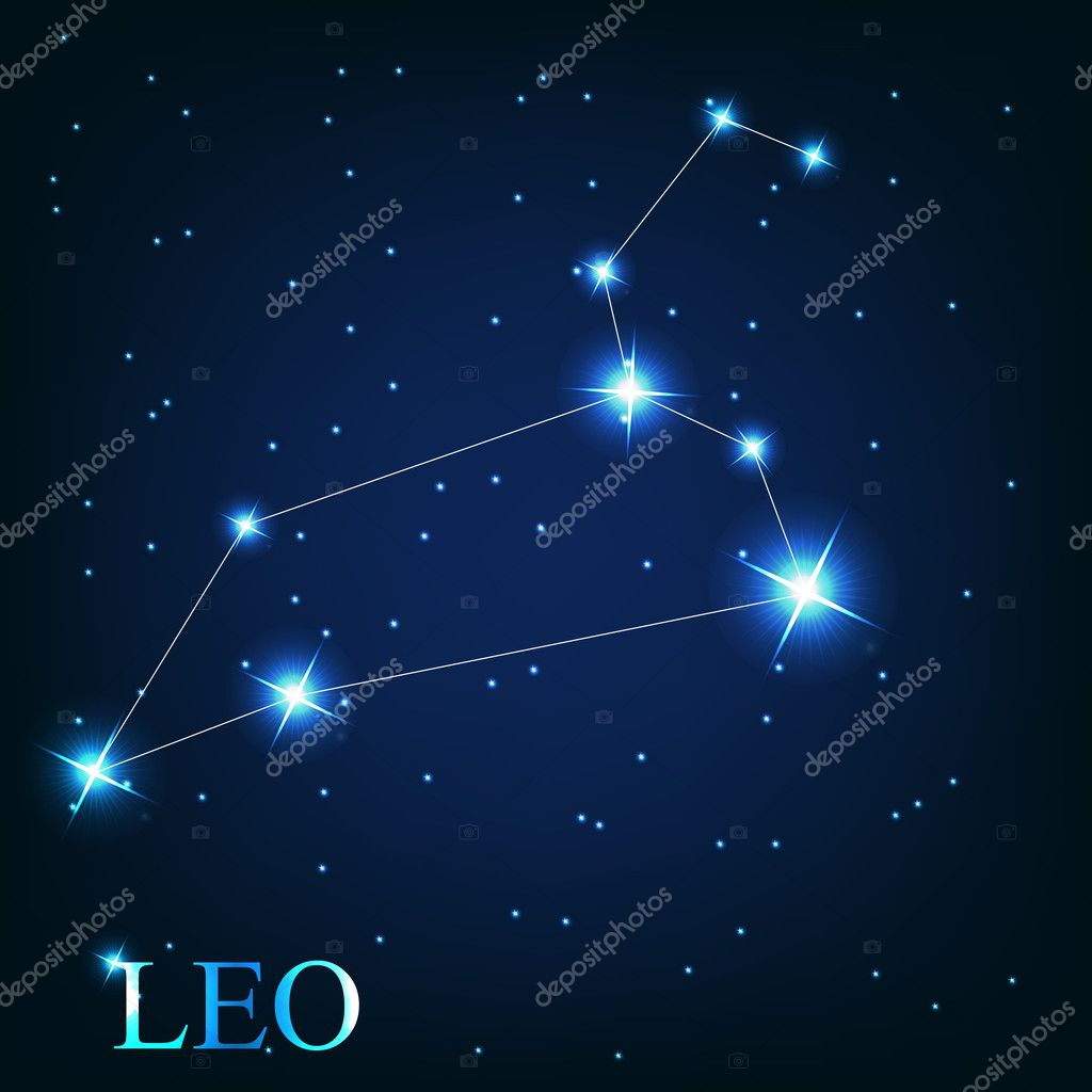 of the leo zodiac sign of the beautiful bright stars on t