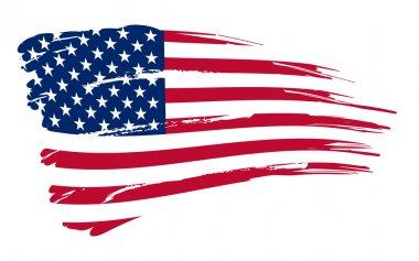 "Картина, постер, плакат, фотообои ""иллюстрация американского флага "", артикул 7995818"