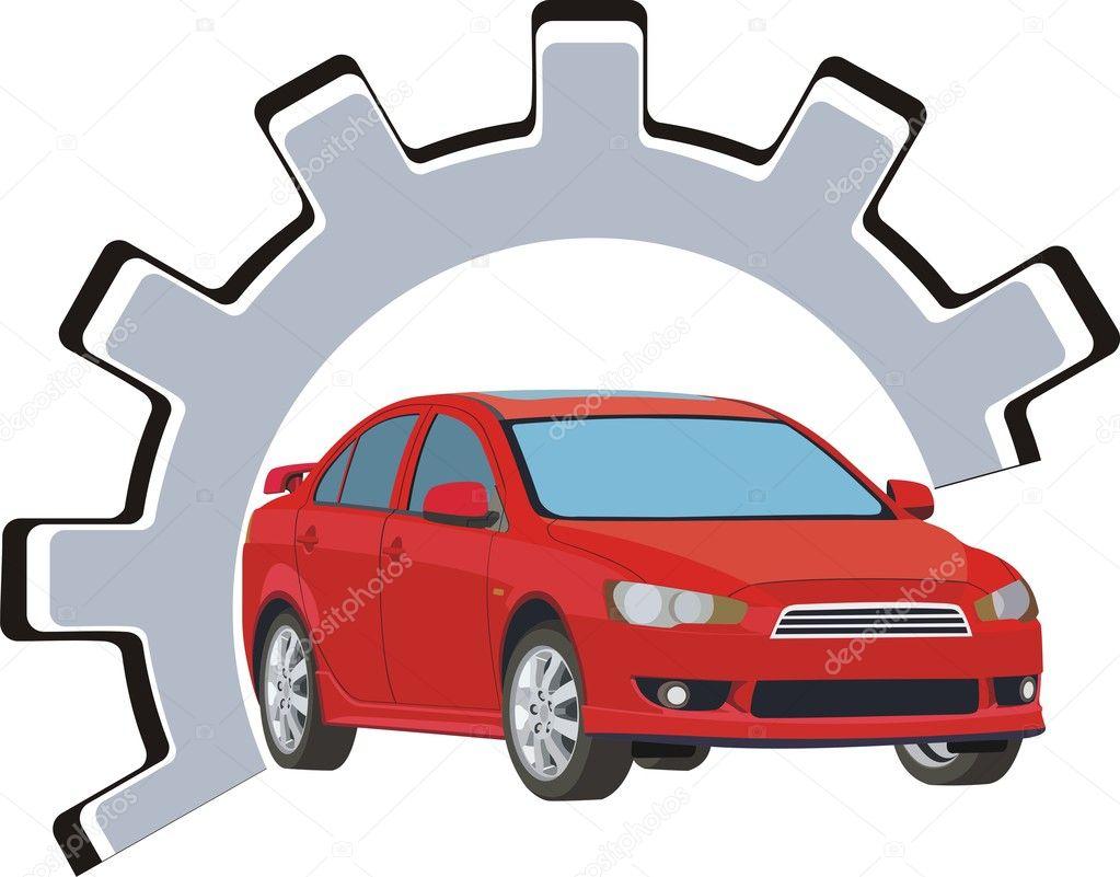 Sign service and repair of motor vehicles stock vector for Motor vehicle repair license