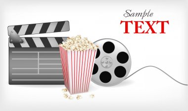 Background with cinema related items