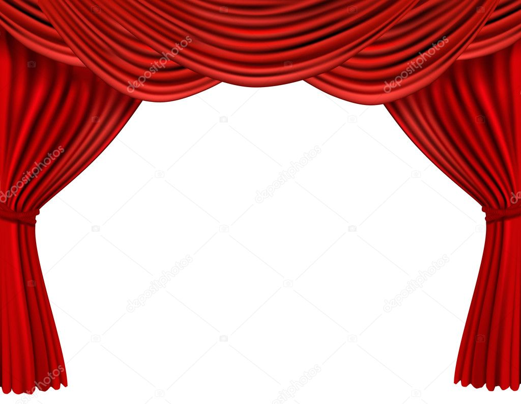 Background With Red Velvet Curtain. Vector Illustration. U2014 Vector By Almoond