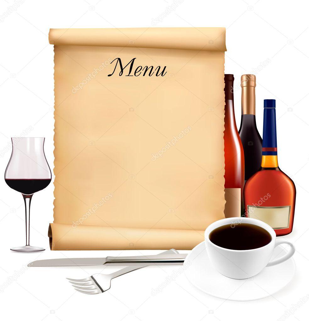Пустые открытки для текста рекламы кафе