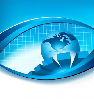 Business elegant abstract background with globe. Vector illustration