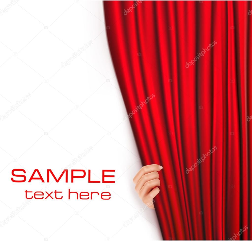 Backgrounds with red velvet curtain.