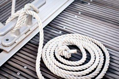 White mooring rope