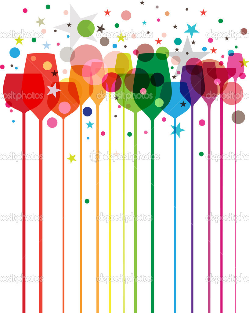 Colorful party drinks stock vector enginkorkmaz 8144002 for Best mixed drinks for a party