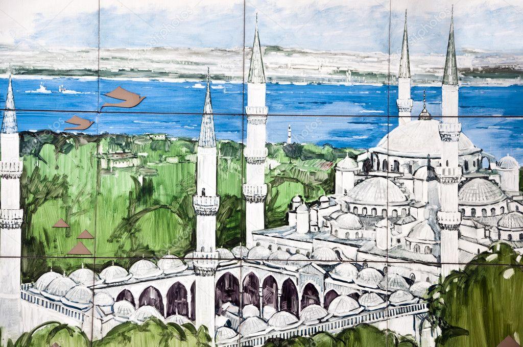 Sultanahmet Camii Boyama Stok Foto Enginkorkmaz 8854371