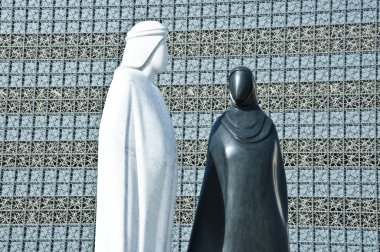 Statues of Arab Man and Woman