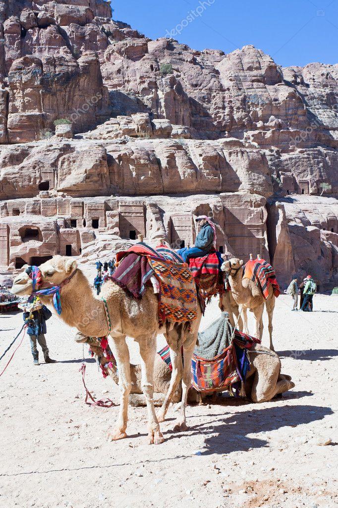 49fad0e1b20 Bedouin camp on Street of Facades, Petra, Jordan– Stock Editorial  Photography