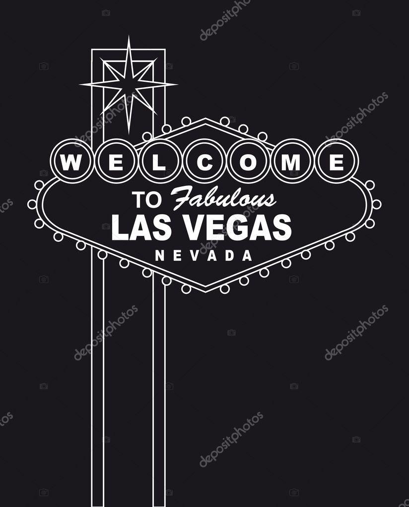 Welcome Las Vegas Stock Vector Grgroupstock 10100472