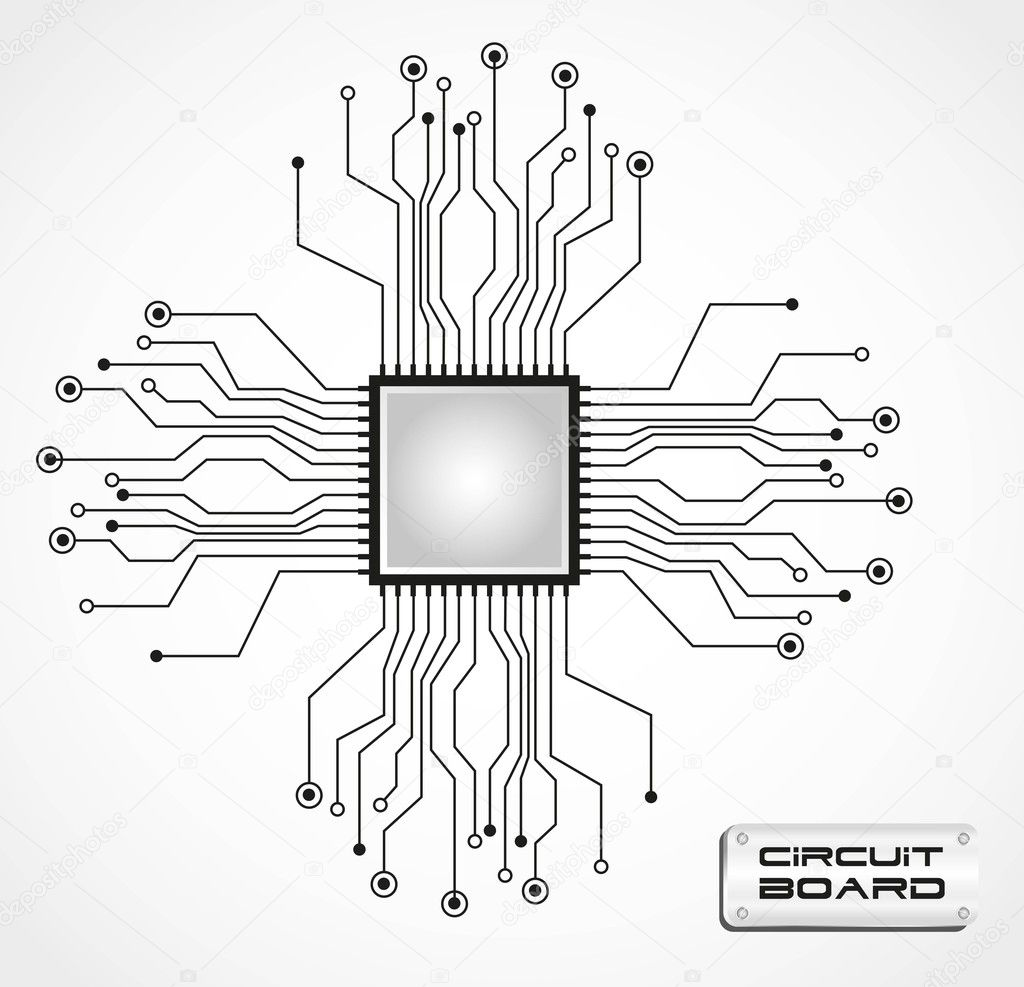 circuit board cpu  u2014 stock vector  u00a9 grgroupstock  10242626