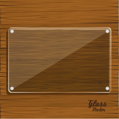 glass plate on wooden
