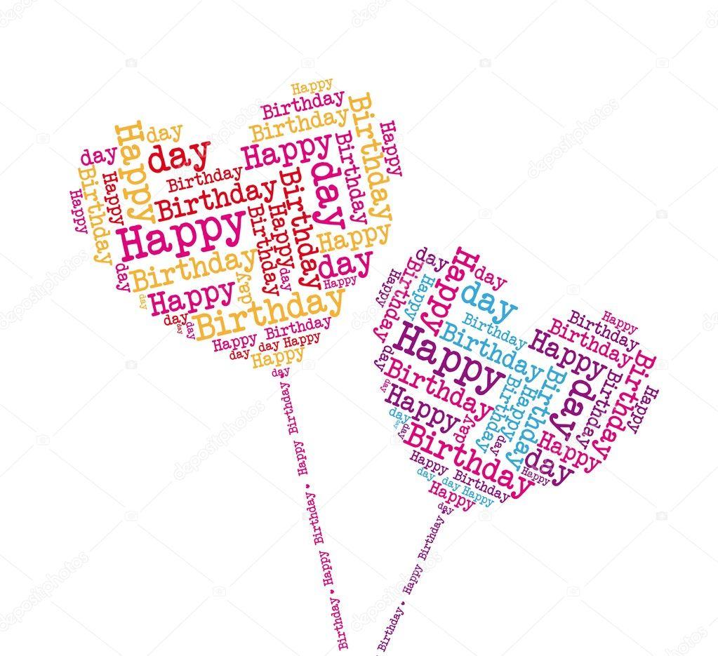 Happy Birthday Hearts Stock Vector C Grgroupstock 8765401
