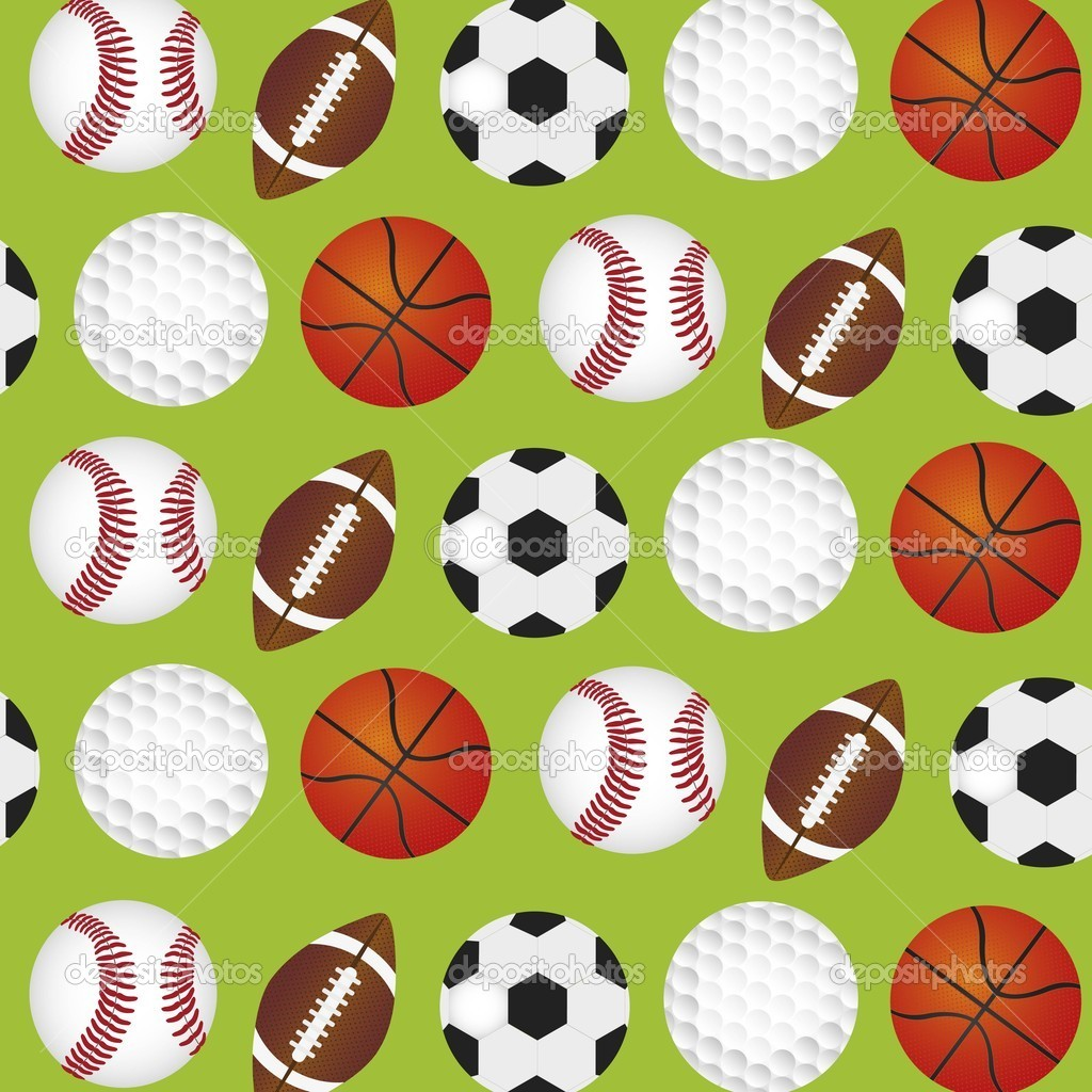 Sports Balls Background Stock Vector