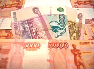Different Russian banknotes