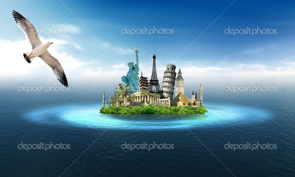 Travel around the world stock photo ajlber 10345840 for Around the world cruise