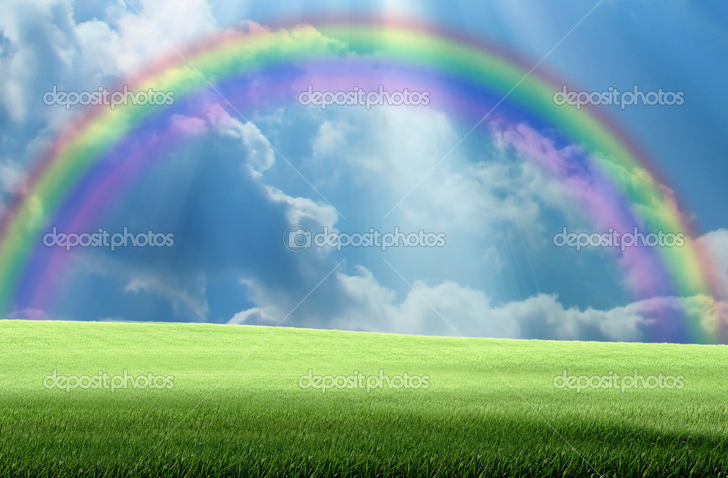Rainbow and sunlight