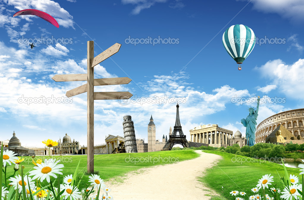 Travel around the world stock photo ajlber 9279061 for Around the world cruise