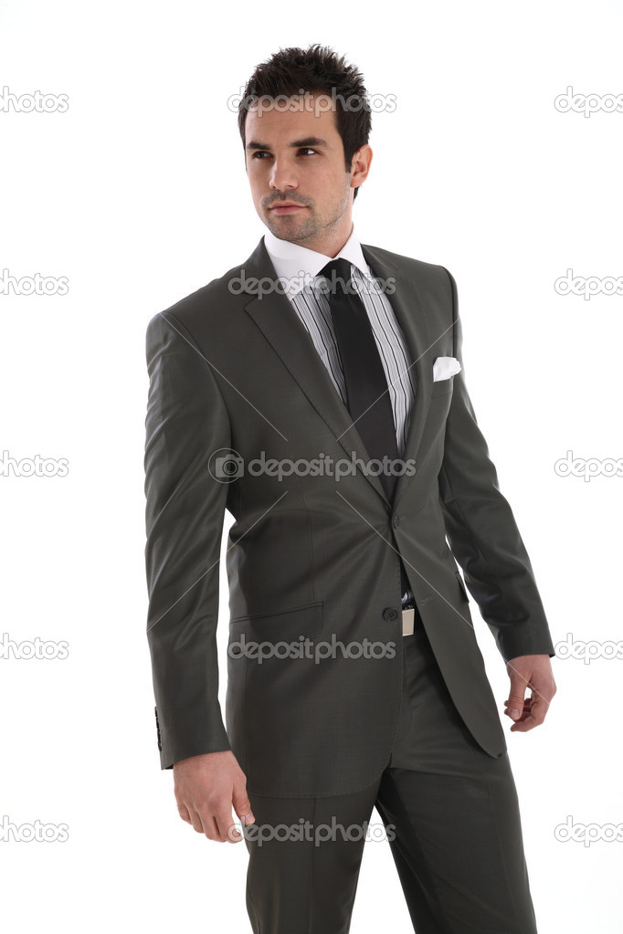 Elegant handsome man in suit