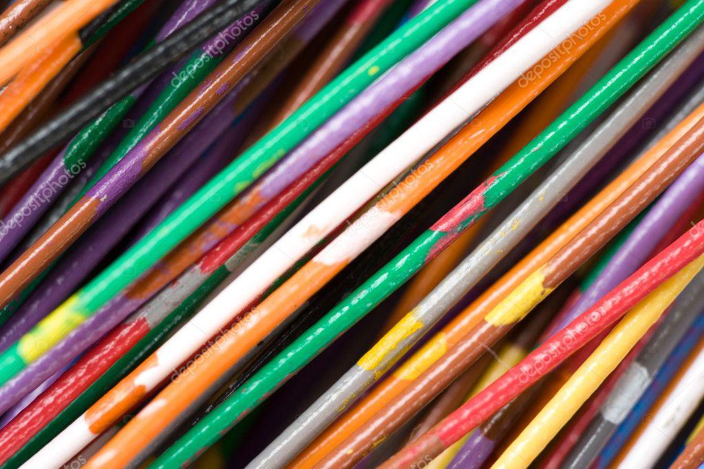 Bunte Kabel bunte kabel stockfoto 9663621