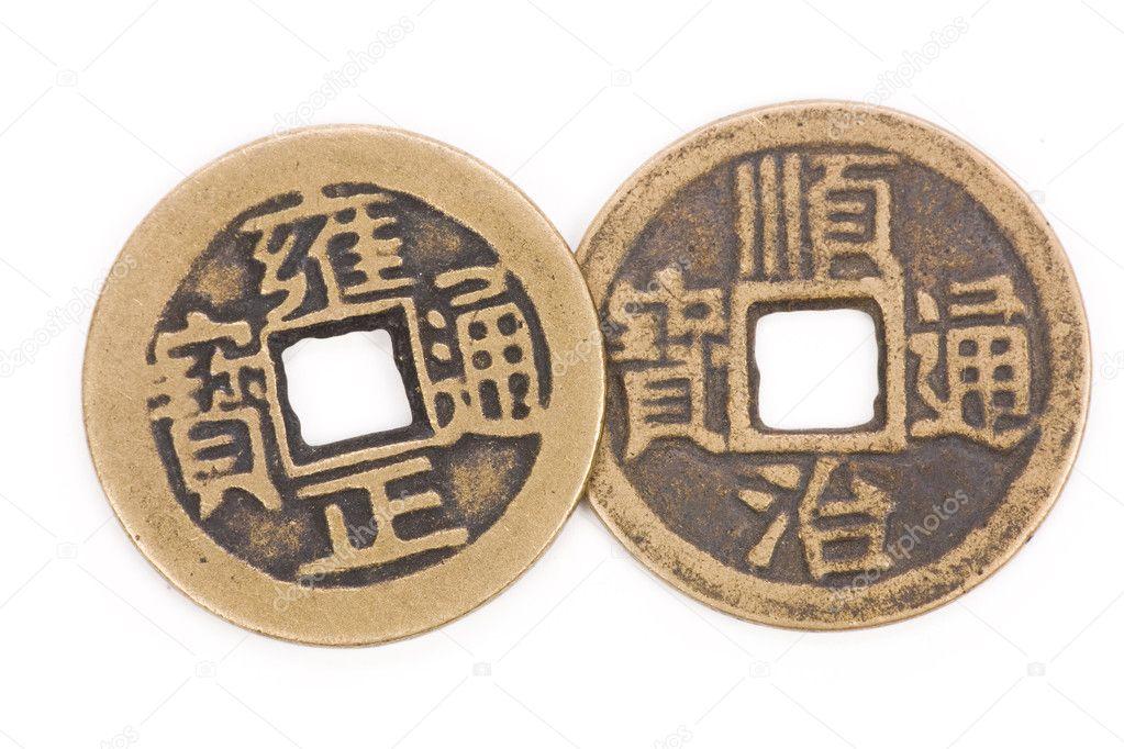 Antike Chinesische Münzen Stockfoto Devon 9937663