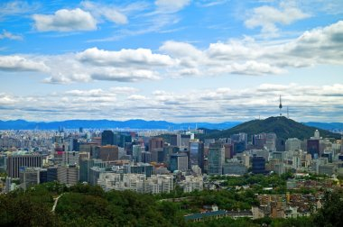 Panoramic view of Seoul, South Korea