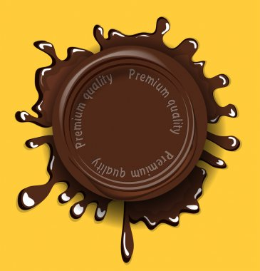 Chocolate seal background