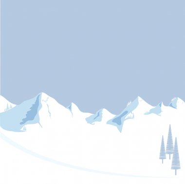 Mountain with tree vector format
