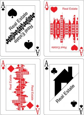 Real estate on the playing cards