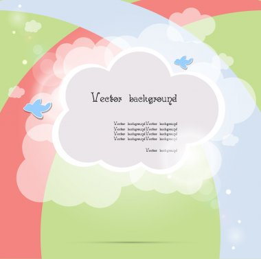 Child cloud vector background