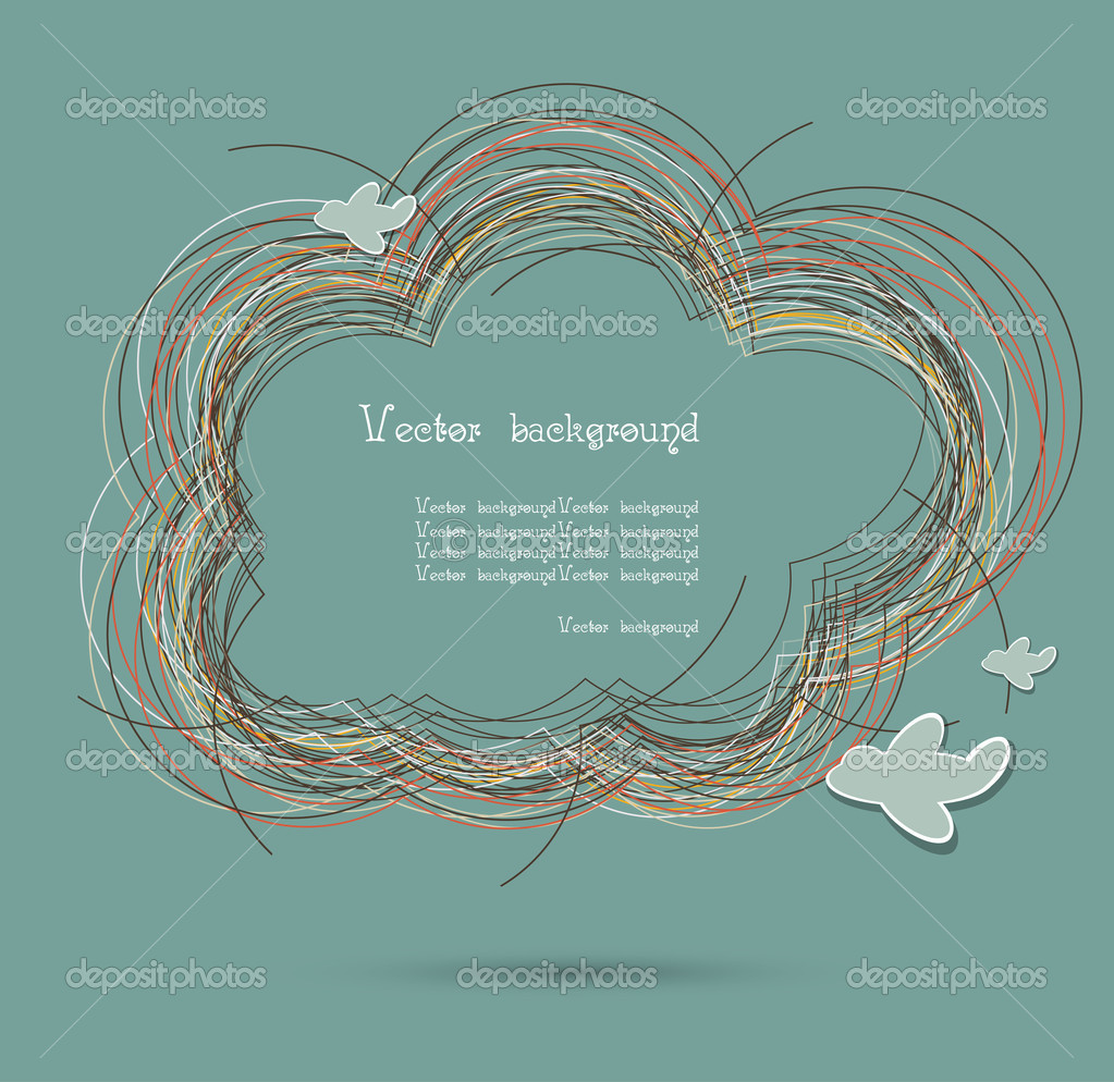 Cloud nest vector background1