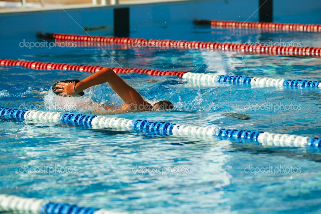 Olympic swimmer training stock photo gromaler 8346862 for Swimming pool certification course
