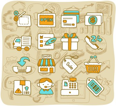 Shopping,business ,office,internet icon set